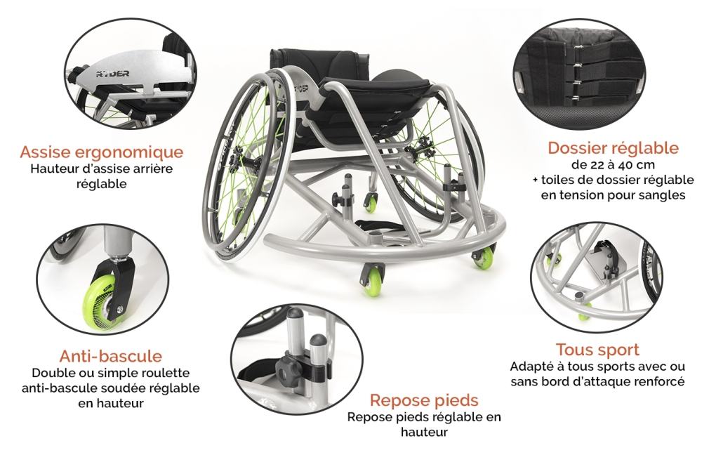 Fauteuil roulant Multisport